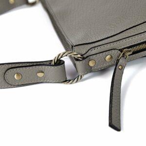 Стильная серая женская сумка через плечо BRL-47548
