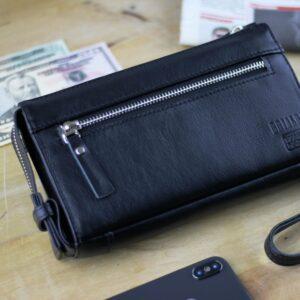 Деловой черный мужской портмоне клатч BRL-247