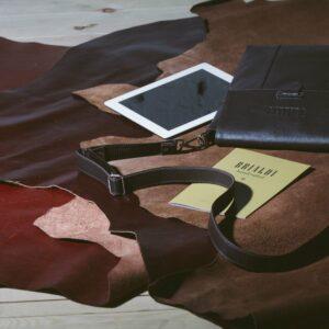 Уникальная коричневая мужская сумка мессенджер BRL-132 227381