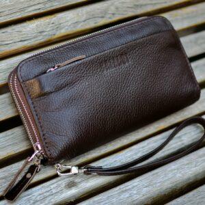 Стильный коричневый мужской портмоне клатч BRL-32922 228780