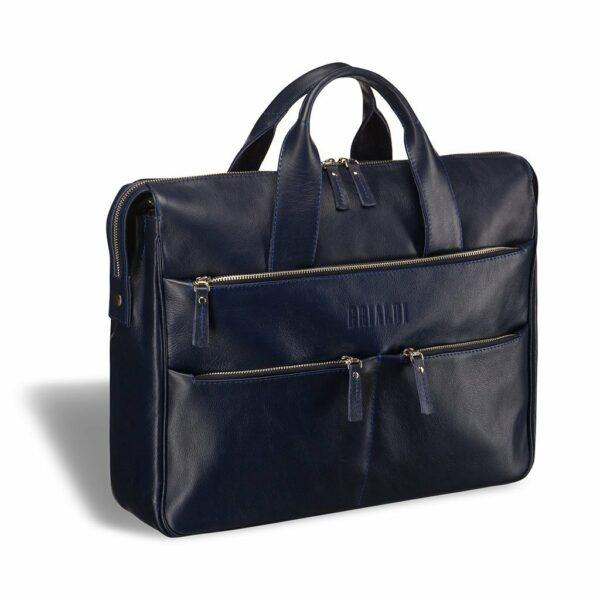 Модный синий мужской портфель деловой BRL-3290