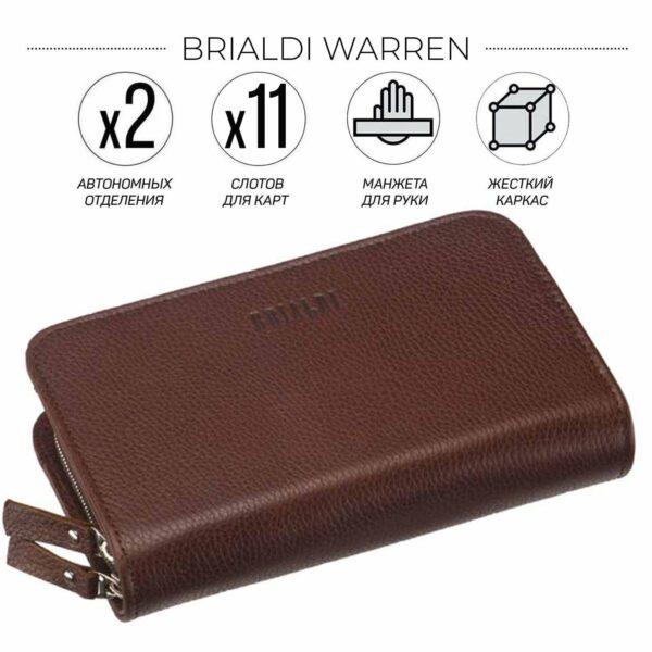 Солидный темно-оранжевый мужской портмоне клатч BRL-26764