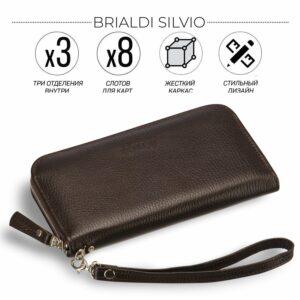 Солидный коричневый мужской портмоне клатч BRL-19842