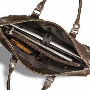 Стильная коричневая мужская классическая сумка BRL-12048