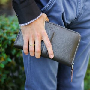 Уникальный коричневый мужской портмоне клатч BRL-26760 228482
