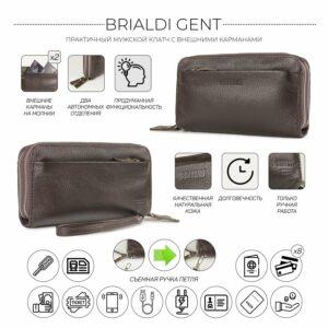 Стильный коричневый мужской портмоне клатч BRL-32922 228767