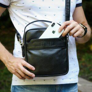 Деловая черная мужская сумка через плечо BRL-34399 229938