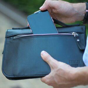 Удобный черный мужской портмоне клатч BRL-920 227511