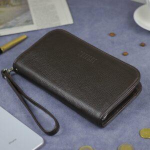 Солидный коричневый мужской портмоне клатч BRL-26739 228421