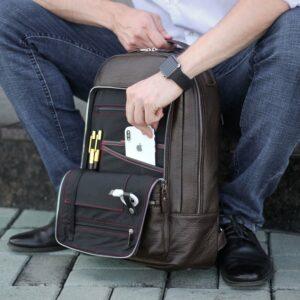 Неповторимый коричневый мужской деловой рюкзак BRL-45796 229271