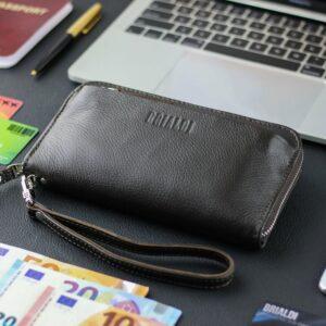 Кожаный коричневый мужской портмоне клатч BRL-28614 228612