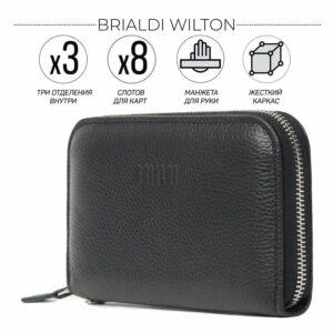 Стильный черный мужской портмоне клатч BRL-43905