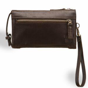 Неповторимый коричневый мужской портмоне клатч BRL-8403 229293
