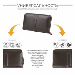 Уникальный коричневый мужской портмоне клатч BRL-26760 228472