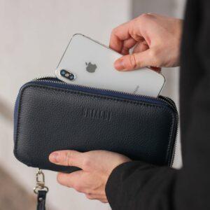 Уникальный синий мужской портмоне клатч BRL-23098 228329