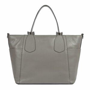 Вместительная серая женская сумка через плечо BRL-47279