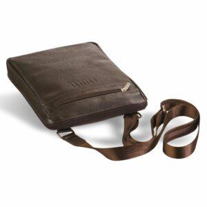 Вместительная коричневая мужская сумка через плечо BRL-12057 227847