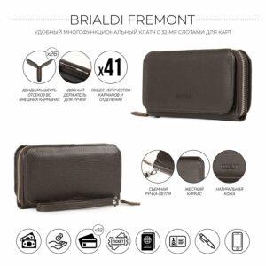 Деловой коричневый мужской портмоне клатч BRL-44374 229203