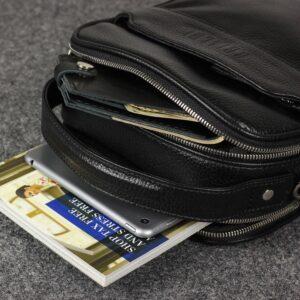 Деловая черная мужская сумка через плечо BRL-34399 229940