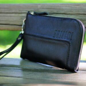 Кожаный черный мужской портмоне клатч BRL-1516 227581