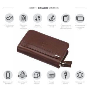 Солидный темно-оранжевый мужской портмоне клатч BRL-26764 228503