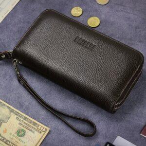 Стильный коричневый мужской портмоне клатч BRL-43904 229114