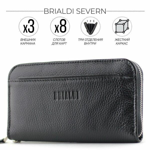 Неповторимый черный мужской портмоне клатч BRL-28561