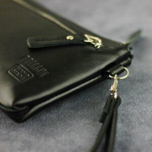 Неповторимый черный мужской портмоне клатч BRL-196
