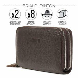Стильный коричневый мужской портмоне клатч BRL-43904
