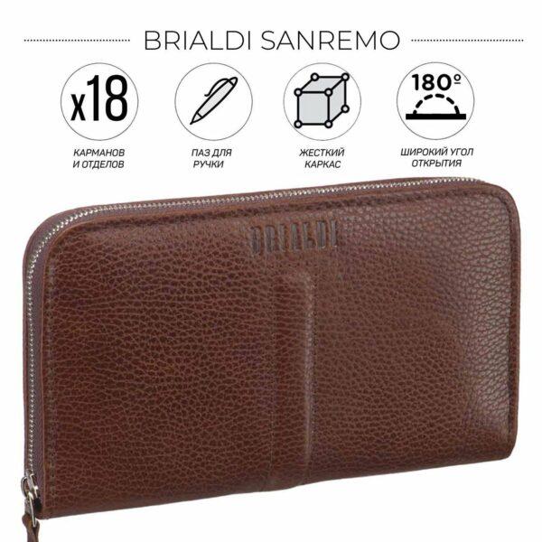 Солидный темно-оранжевый мужской портмоне клатч BRL-26761