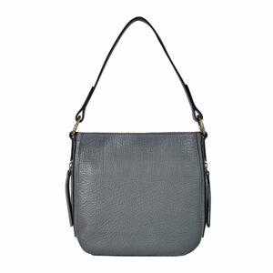Функциональная серая женская сумка через плечо BRL-47549