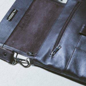 Уникальная коричневая мужская сумка мессенджер BRL-132 227385