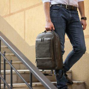 Неповторимый коричневый мужской деловой рюкзак BRL-45796 229273