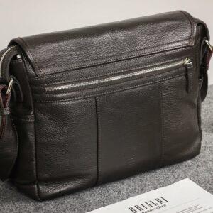 Удобная коричневая мужская сумка через плечо BRL-12996 227203