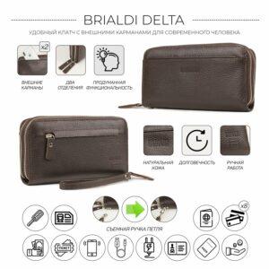 Кожаный коричневый мужской портмоне клатч BRL-32920 228751