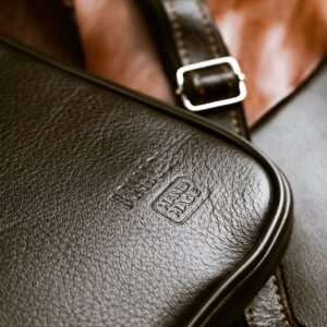 Кожаная черная мужская сумка мессенджер BRL-1022 229382