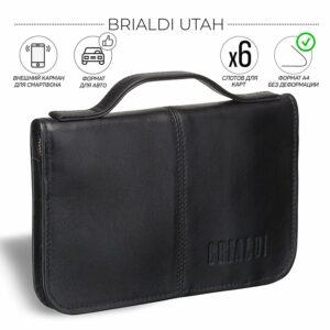 Удобный черный мужской портмоне клатч BRL-920