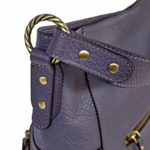 Вместительная фиолетовая женская сумка через плечо BRL-47455 229858