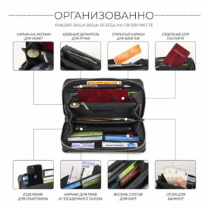 Стильный черный мужской портмоне клатч BRL-44372 229187