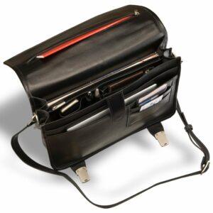Стильный черный мужской портфель классический BRL-9536 227773