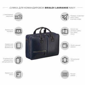 Неповторимая синяя дорожная сумка портфель BRL-23118 228389