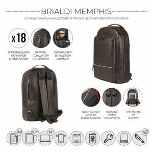 Неповторимый коричневый мужской деловой рюкзак BRL-45796 229260