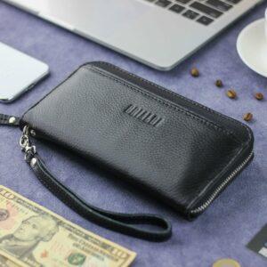 Неповторимый черный мужской портмоне клатч BRL-28616 229548