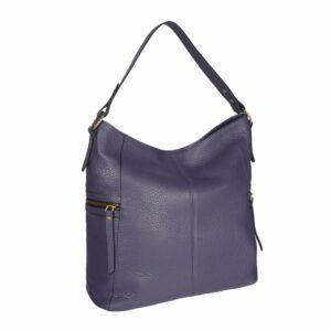 Вместительная фиолетовая женская сумка через плечо BRL-47455