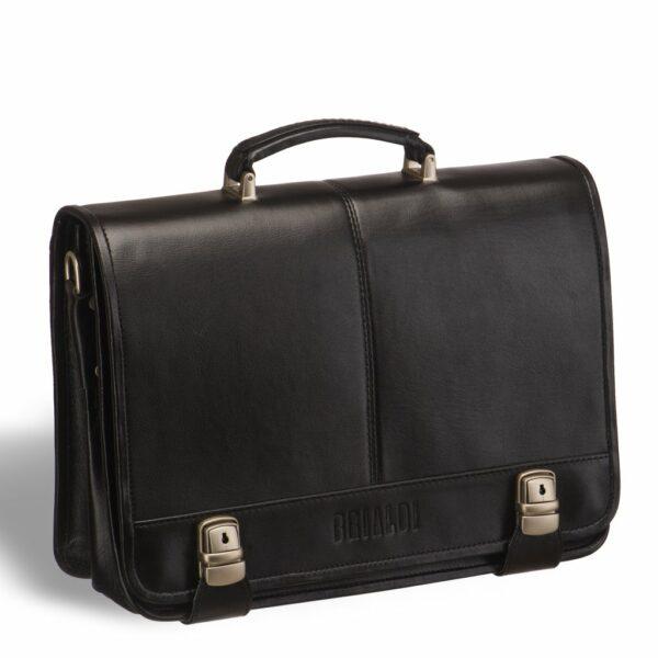Стильный черный мужской портфель классический BRL-9536