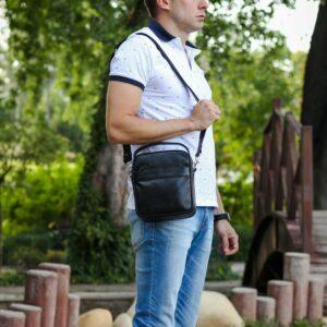 Деловая черная мужская сумка через плечо BRL-34399 229952