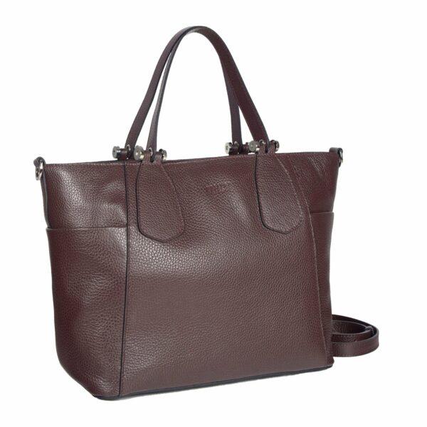 Деловая бордовая женская сумка через плечо BRL-47277