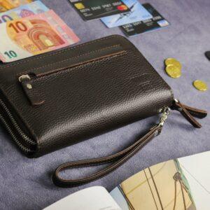 Кожаный коричневый мужской портмоне клатч BRL-32920 228760