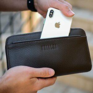 Кожаный коричневый мужской портмоне клатч BRL-32920 228752