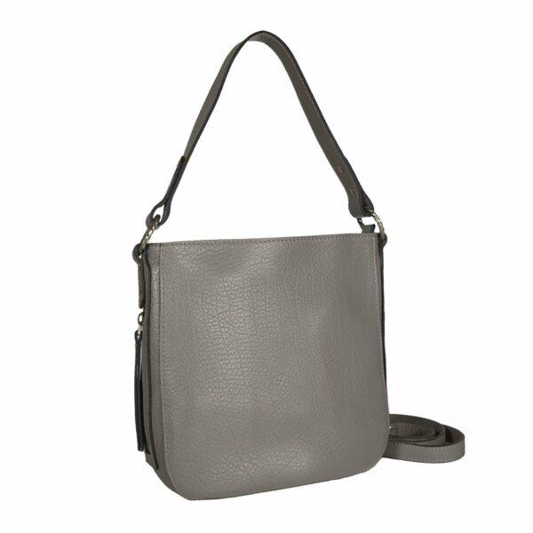 Деловая серая женская сумка через плечо BRL-47548